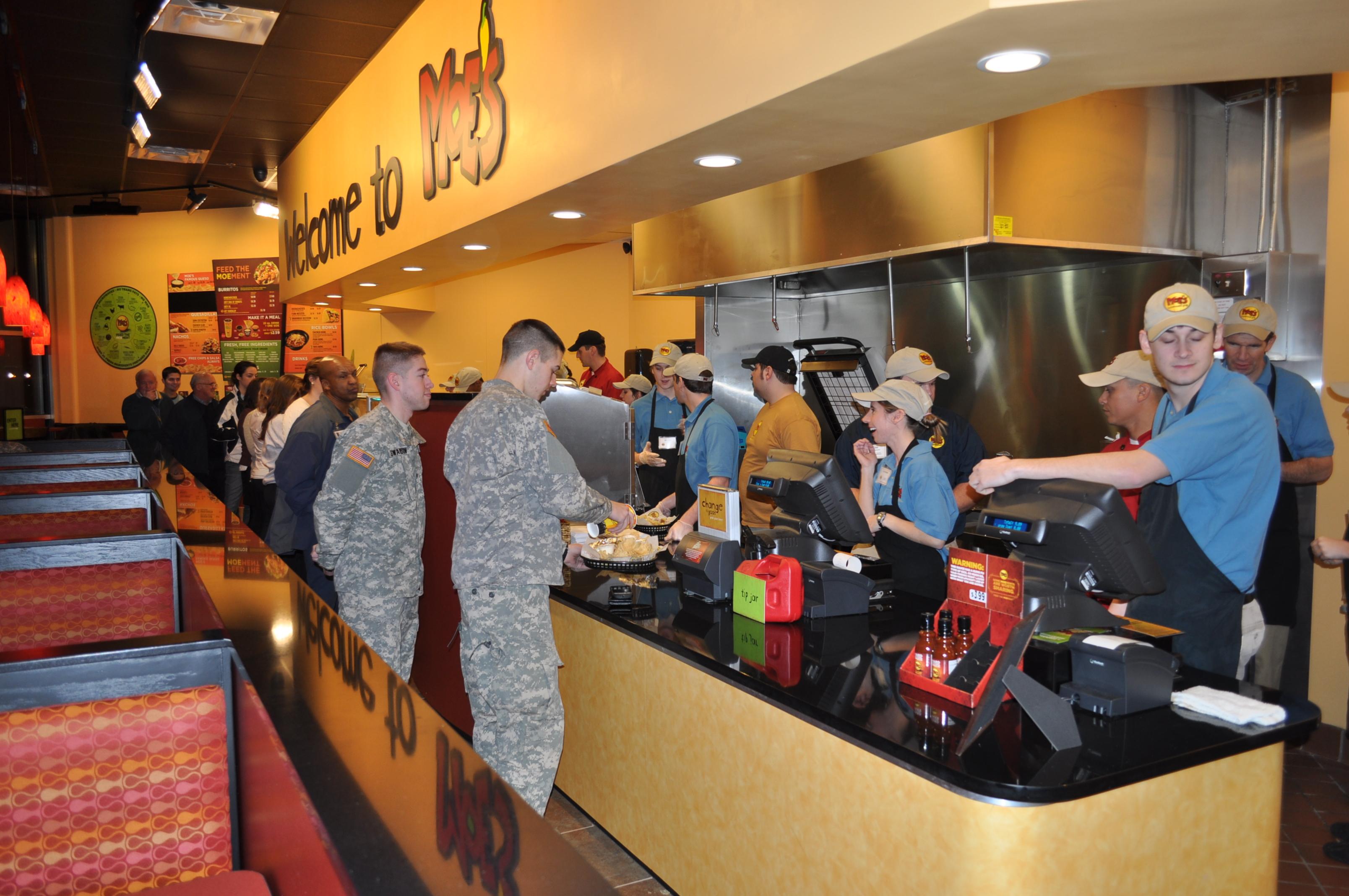 Moe s southwest grill opens in tuscaloosa al moe 39 s for Food bar tuscaloosa
